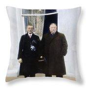 Wilson & Taft: White House Throw Pillow