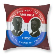Wilson Campaign Button Throw Pillow