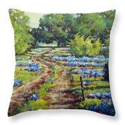 Wimberley's Bluebonnets Throw Pillow