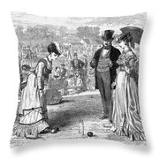Wimbledon: Croquet, 1870 Throw Pillow