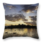 Wimbledon Sunset Throw Pillow