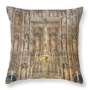 Winchester Cathedral High Altar Throw Pillow