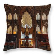 Winchester Cathedral Quire Throw Pillow