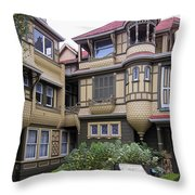 Winchester House - Door To Nowhere Throw Pillow by Daniel Hagerman