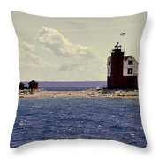 Wind At The Light  Throw Pillow