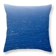 Wind Creates White-capped Waves Throw Pillow