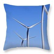 Wind Farm I Throw Pillow