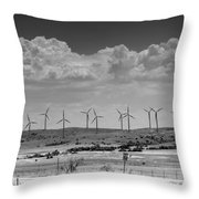 Wind Farm II Throw Pillow