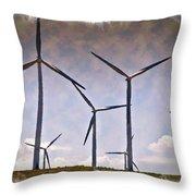 Wind Farm IIi - Impressions Throw Pillow