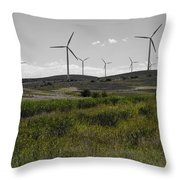 Wind Farm Iv Throw Pillow