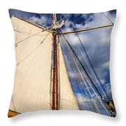 Wind In My Sail Throw Pillow