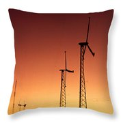 Wind Power For Agriculture Throw Pillow
