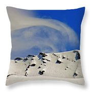 Wind Skier Throw Pillow