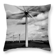 Wind Turbines Mono Throw Pillow