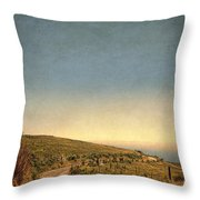 Winding Road To The Sea Throw Pillow