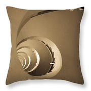 Winding Staircase, Katakolon, Greece Throw Pillow