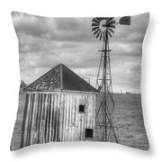 Windmill And Shack Throw Pillow