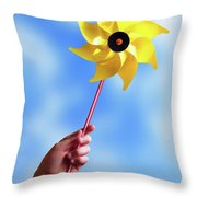 Windmill Throw Pillow by Carlos Caetano