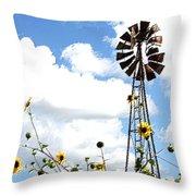 Windmill Dabble 2a Throw Pillow