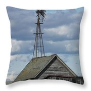 Windmill In The Storm Throw Pillow