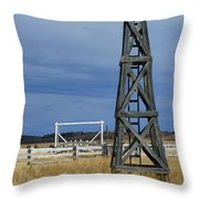 Windmill Tower Throw Pillow