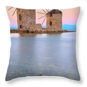 Windmills  Throw Pillow by Emmanuel Panagiotakis