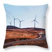 Windmills Near El Chorro Throw Pillow