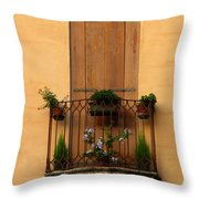 Window And Balcony In Vicenza Throw Pillow