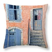 Window And Doors Provence France Throw Pillow