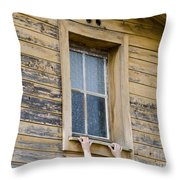 Window And Hands Throw Pillow
