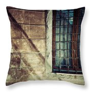 Window And Long Shadows Throw Pillow