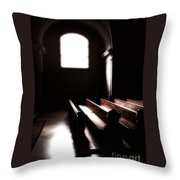 Window And Pews Throw Pillow