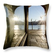 Window And Sun Throw Pillow