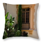 Window At The Biltmore Throw Pillow