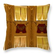 Window Candles Nostalgia Throw Pillow