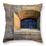 Window Detail At Carmel Throw Pillow
