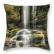 Window Falls Cascade Throw Pillow