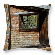 Window Geometry At Alamo Ranch Throw Pillow