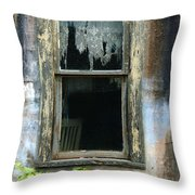 Window In Old Wall Throw Pillow by Jill Battaglia