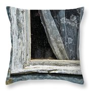 Window Of Old Abandoned Building Throw Pillow