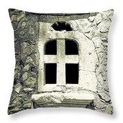 Window Of Stone Throw Pillow