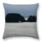 Window Rocks Throw Pillow