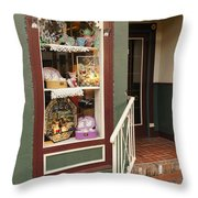 Window Shop Detail Throw Pillow