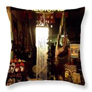 Window Shopping The China Store Throw Pillow