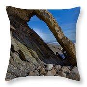 Window To The Beach Throw Pillow