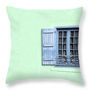 Window With Copy Space Throw Pillow