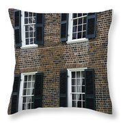 Windows At The Clover Hill Tavern Appomattox Virginia Throw Pillow