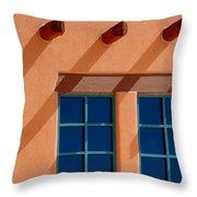 Windows Blue Throw Pillow