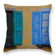 Windows Throw Pillow by Debra and Dave Vanderlaan