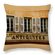 Windows Of Antiquites Throw Pillow